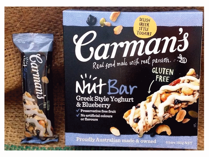 Carman's Greek Style Yoghurt & Berry Nut Bars (5x40g)