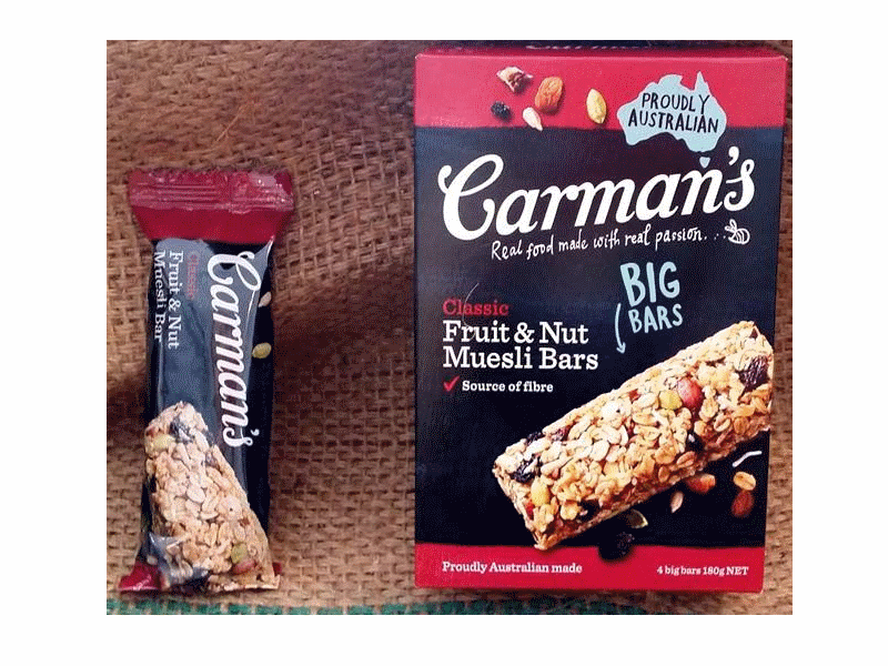 Carman's Classic Fruit & Nut Muesli Bars (4x45g)