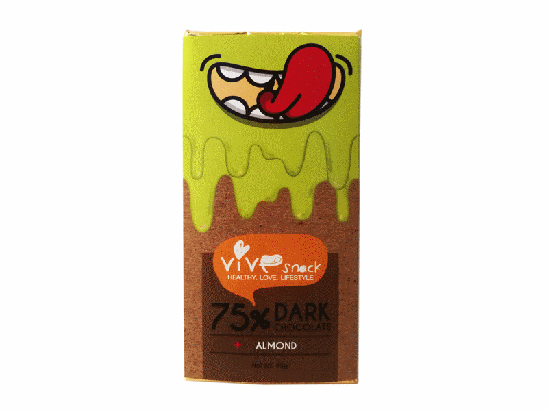 Vie Verte Dark Chocolate Almond bar 45g