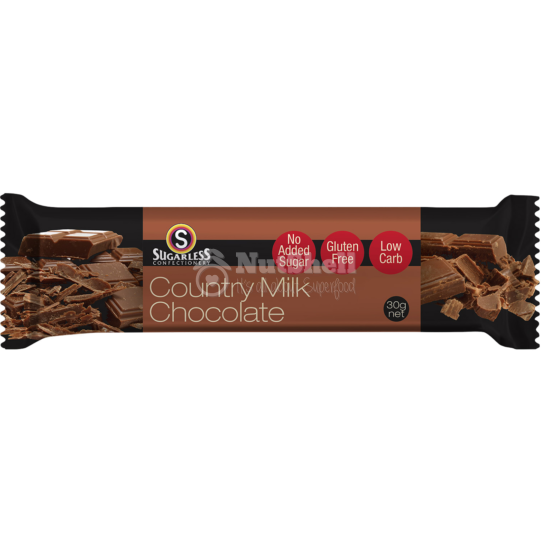 SUGARLESS Milk Chocolate bar 30g (no added sugar, with stevia)