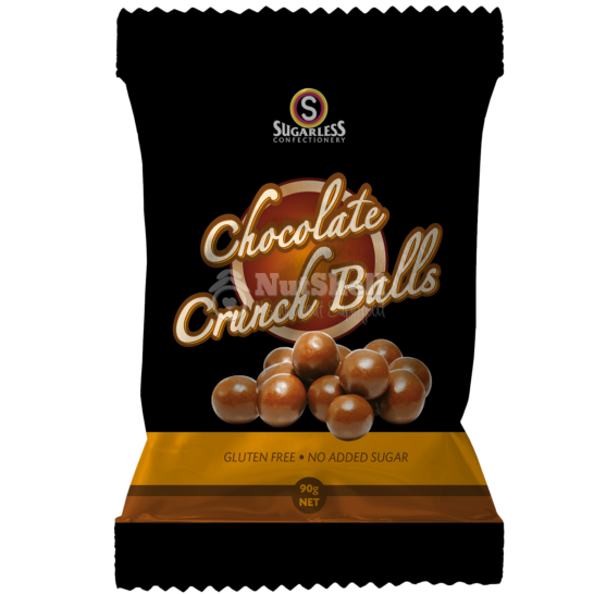 SUGARLESS Chocolate Crunch Ball 90g (no added sugar, with stevia)