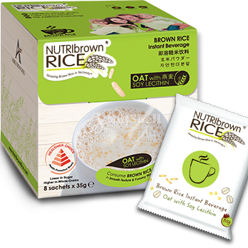 NutriBrownRice® Oat with Soy Lecithin (8x35g)