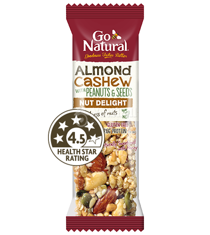 GO NATURAL Almond Cashew with peanuts & seeds (45g)
