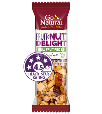 GO NATURAL Nut Fruit Delight Protein Bar (50g)