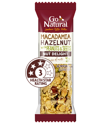 GO NATURAL Macadamia Hazelnut with peanuts & seeds (45g)