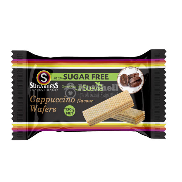 SUGARLESS Cappuccino Wafer With Stevia 150g