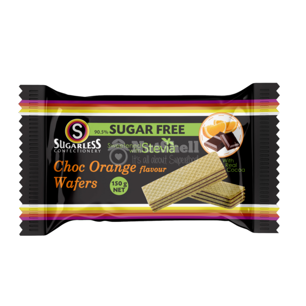 SUGARLESS Chocolate & Orange Wafer With Stevia 150g