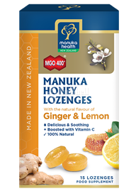 Manuka Honey with Ginger & Lemon Lozenges (15PCS) (New Zealand)